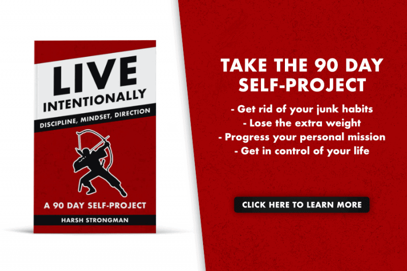The Live Intentionally 90 day self project book cover