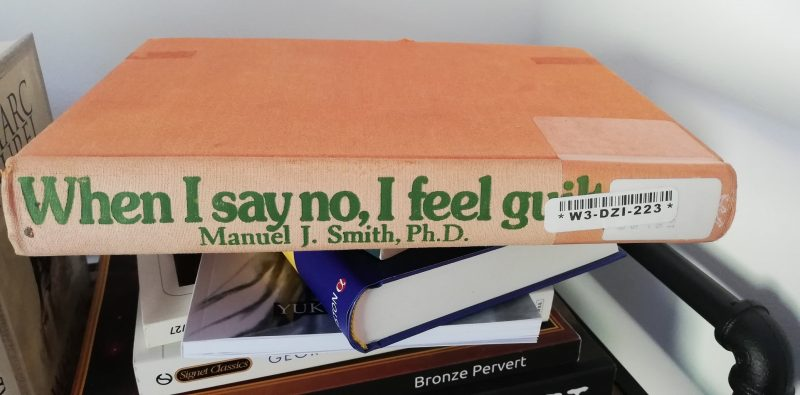 When I say No I feel guilty paperback book