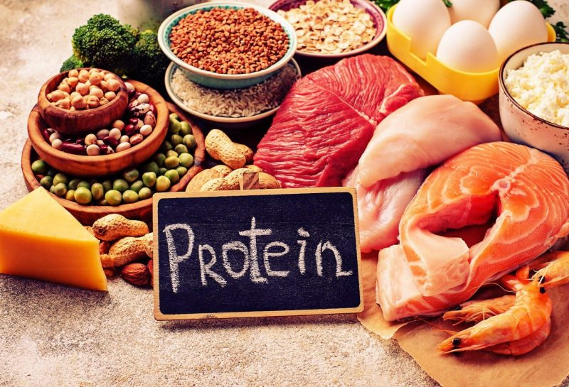 Healthy protein meat fish eggs whey