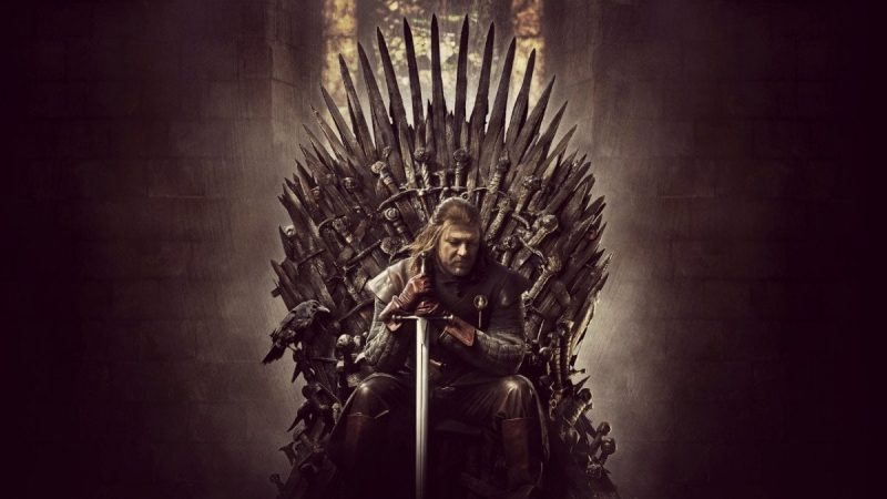 Game of Thrones ned stark on throne