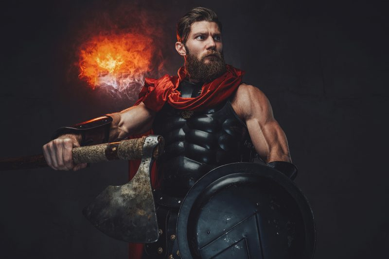 Muscular Warrior What it means to be a man