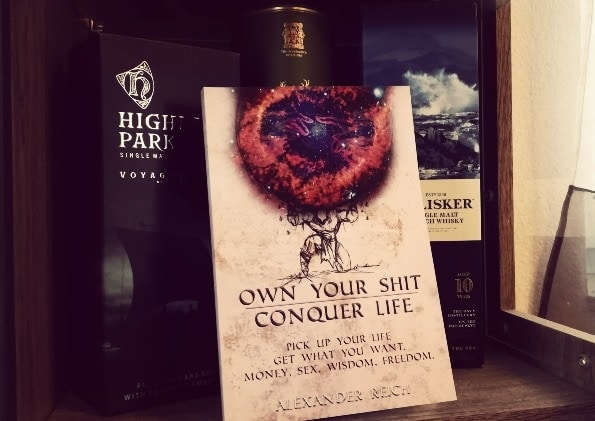 own your shit book with whiskey