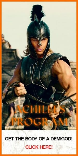 brad pitt as achilles in the movie troy