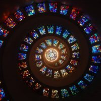 Spiraled stained glass