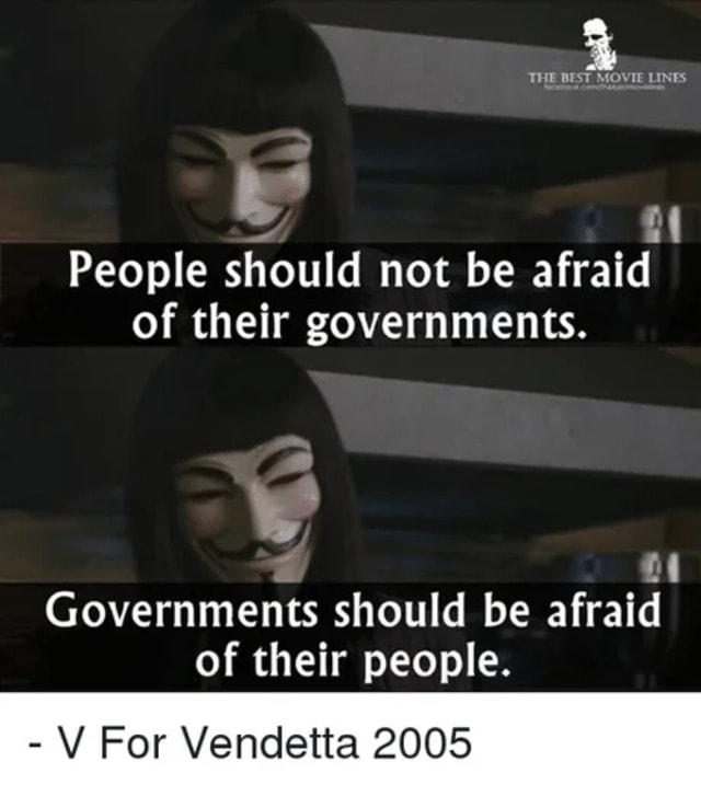 V for Vendetta government