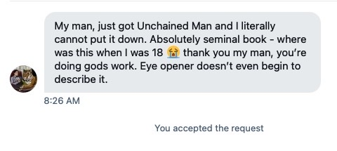 the unchained man testimonial 1