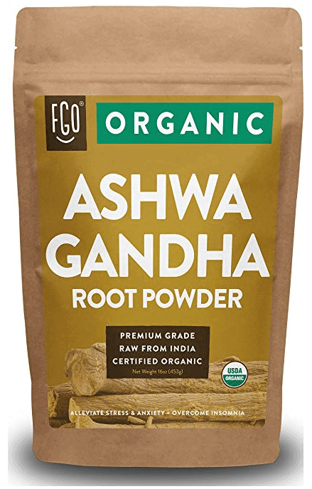 Organic ashwagandha root powder package.