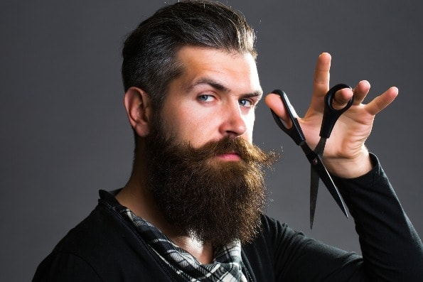 Handsome bearded man with long beard