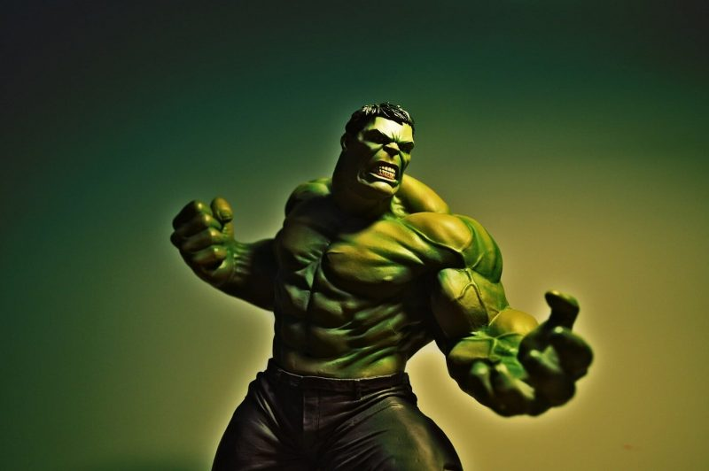 Marvel's Hulk being really angry