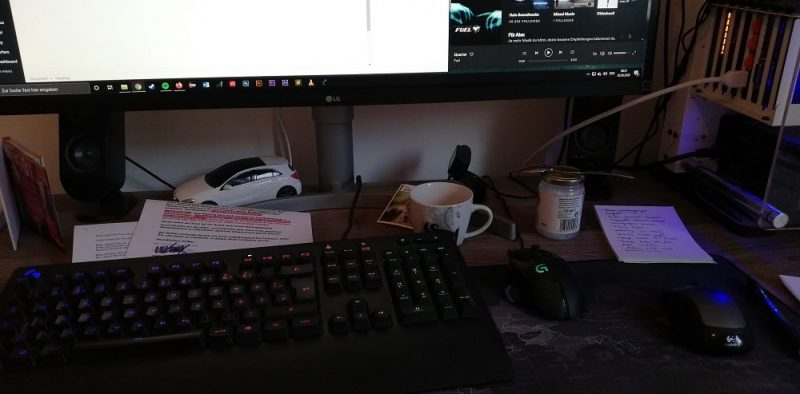 My cluttered desk