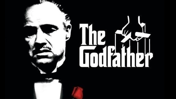 A picture of the Godfather movie. This man didn't wonder how to get respect.
