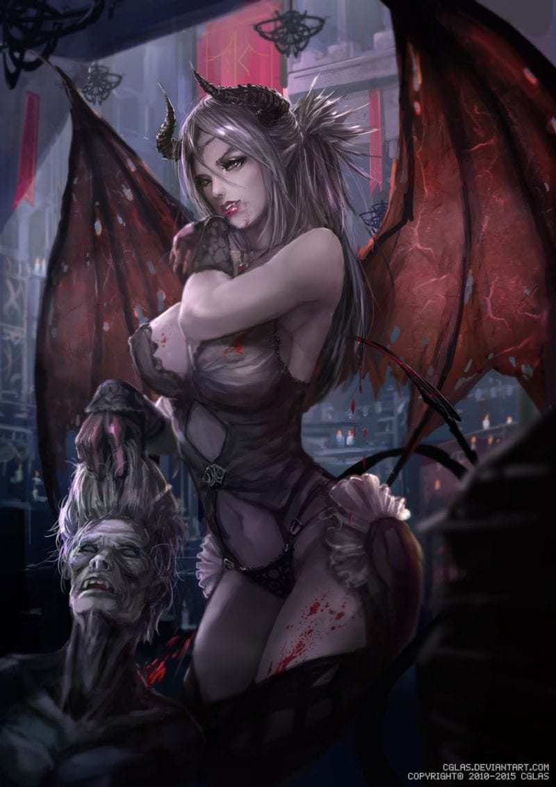 The succubues comic of a hot sexy female demon