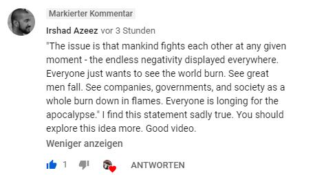 Youtube comment apocalypse