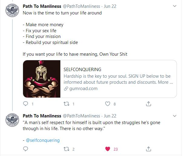 path to manliness testimonial for own your shit
