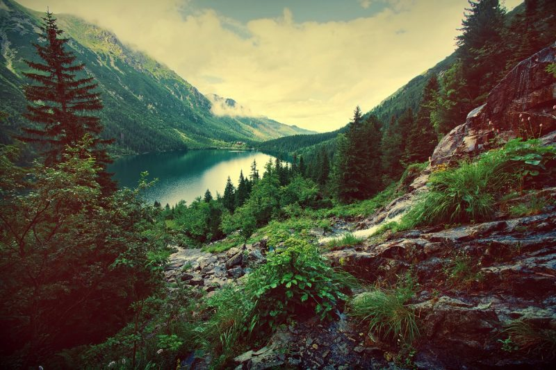 Lake in the mountains nature freeing your subconscious