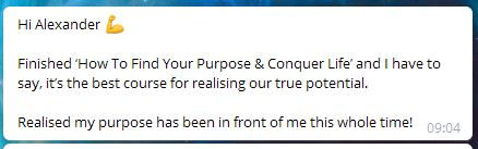 how to find your purpose testimonial