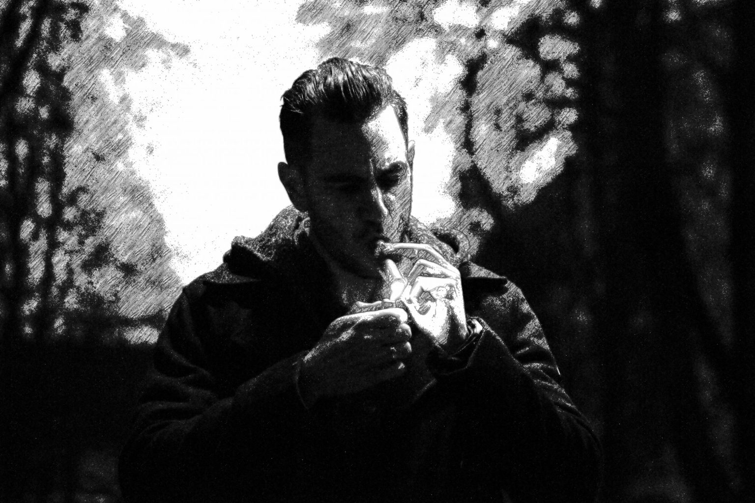 alexander graves smoking cigar