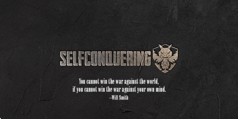 old selfconquering logo