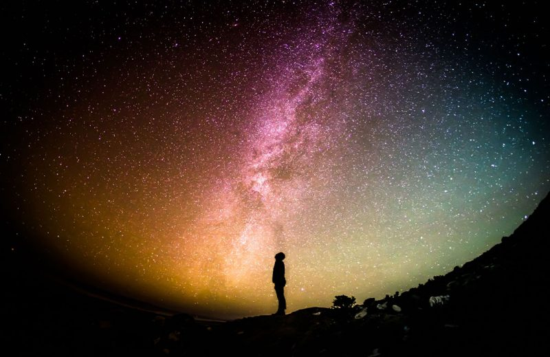 man looking into space spirituality