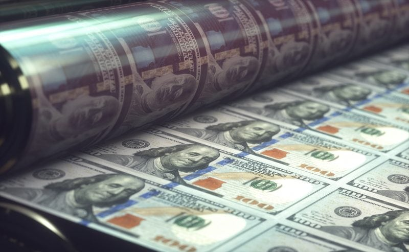 printing money is another sign of a dying society