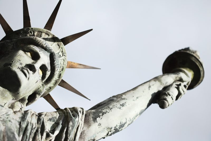 statue of liberty dying society