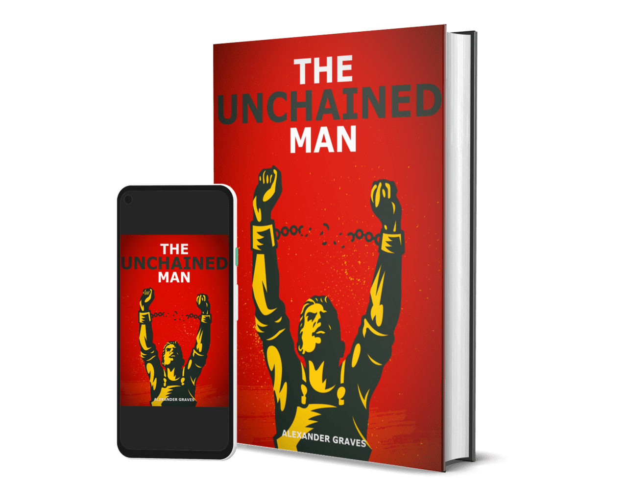 the unchained man 3d book and ebook cover