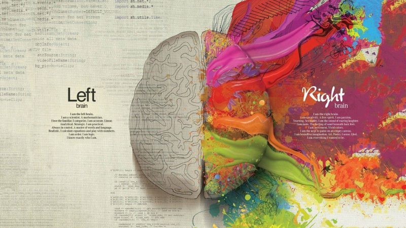 the left and right hemisphere art